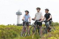 Radfahrer am Diemelsee