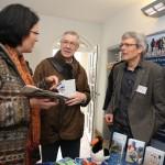 intensive Gespräche der Partner am Stand des Nationalparks Schleswig-Holsteinisches Wattenmeer - Foto: Simone Ahrend