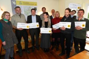 Auszeichnung der Naturpark-Partner 2013 - Foto: LAG Uckermark