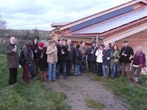 Die Partner und Freunde des Biosphärenreservates Bliesgau waren unter anderem auf dem Bio-Weingut Rummel im pfälzischen Landau zu Gast.  Foto: Biosphärenzweckverband Bliesgau