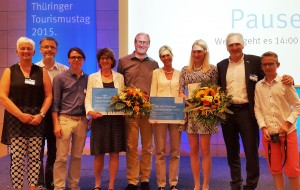 Auszeichnung mit dem Thüringer Tourismuspreis 2015 am 06. Juli 2015 in Erfurt - Foto: Naturpark Eichsfeld-Hainich-Werratal