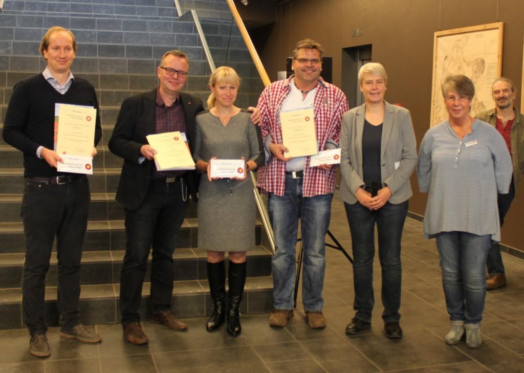 Von links: Kai Gardeja (Geschäftsführer TZR),Familie Behling (Rujana Service- und Vermittlung GmbH), Marco Matuschak (Gujana Hof), Cathrin Münster , Heike Lange (beide BRA SOR) - Foto: Stefan Woidig, BRA SOR