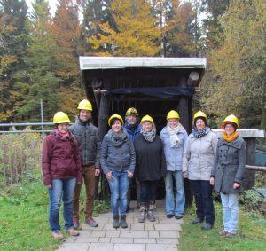 Partner aus Biosphärenreservat und Nationalparkt besichtigen  gemeinsam das Besucherbergwerk Schwarzer Crux   - Foto: Biosphärenreservat Vessertal-Thüringer Wald
